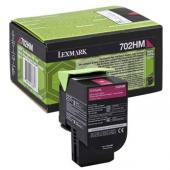 Lexmark originální toner 70C2HM0, magenta, 3000str., high capacity, return